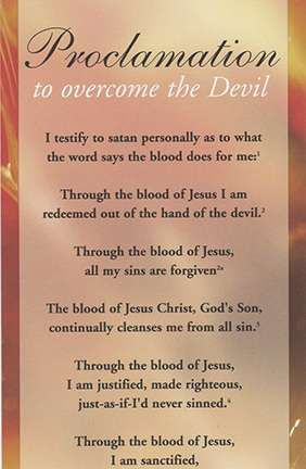 Proclamation to Overcome the Devil