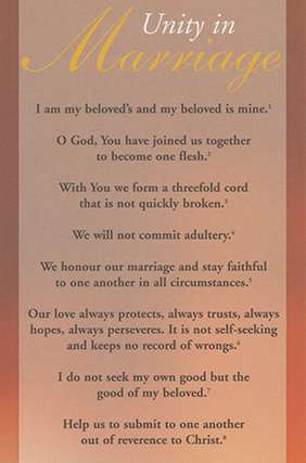Proclamation - Unity in Marriage