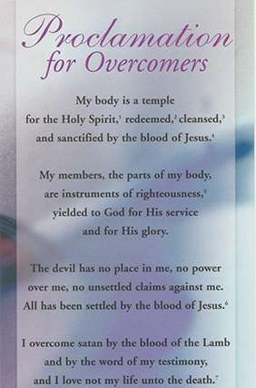 Proclamation For Overcomers