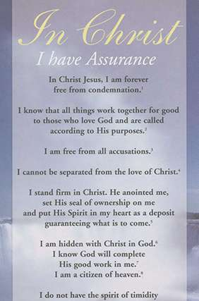 Proclamation - In Christ I Have Assurance