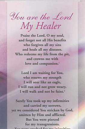 Proclamation - You are the Lord my Healer