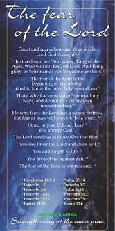 Proclamation - The Fear of the Lord