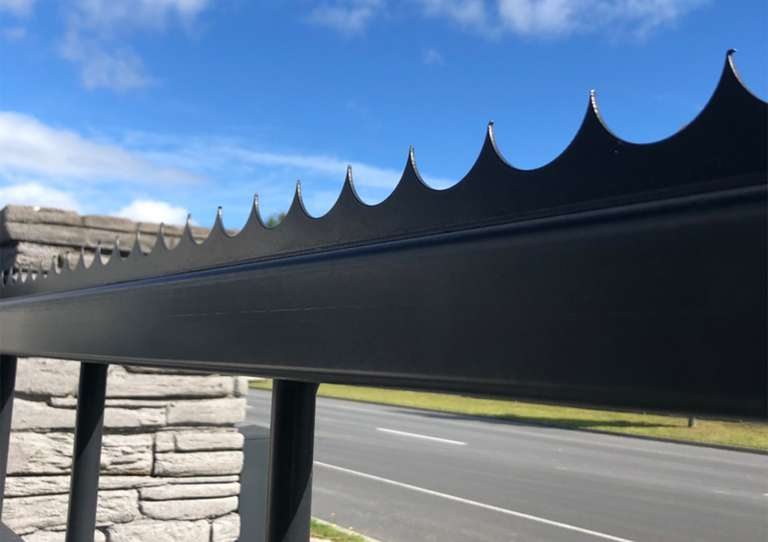 Security capping to be fitted to gate