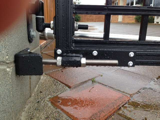 EasyGate Gate Post Stopper - closed
