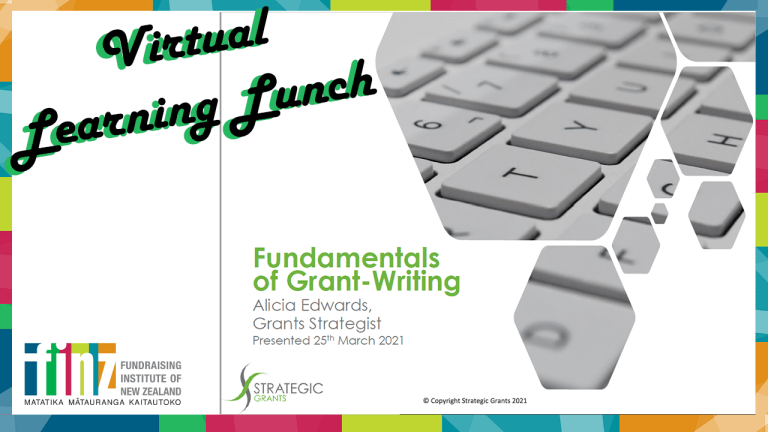 Fundamentals of Grant Writing with Alicia Edwards and Ruth Button   FINZ Filmed