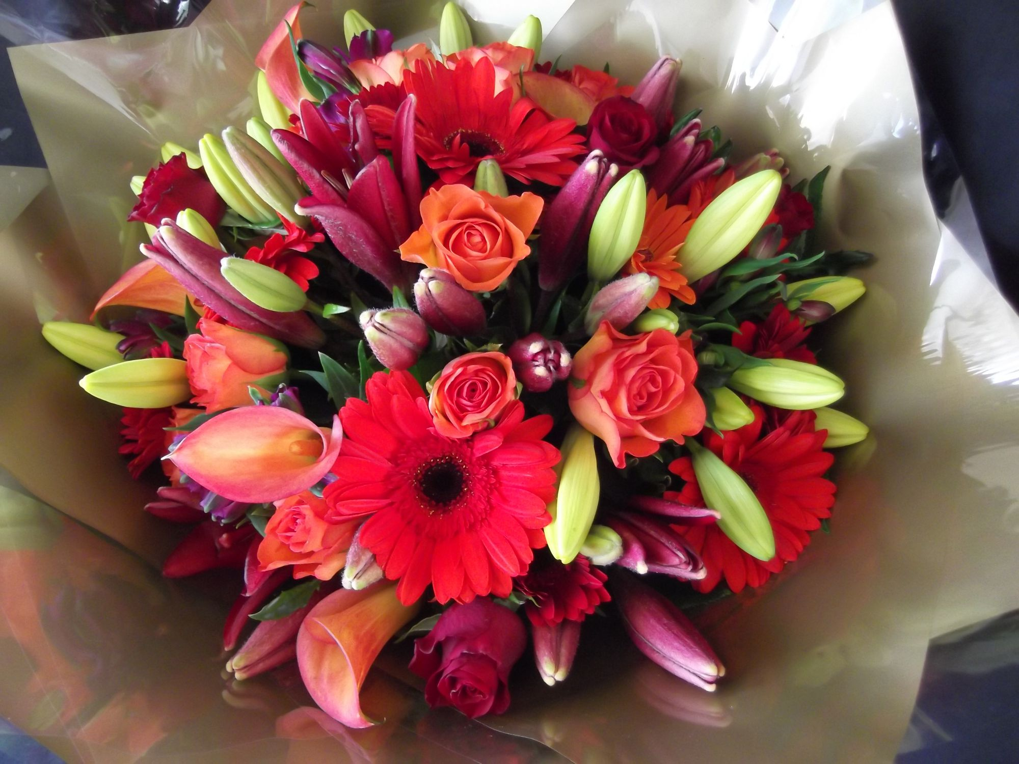 Gerberas with roses bouquet bouquet of flowers izmirmasajfo
