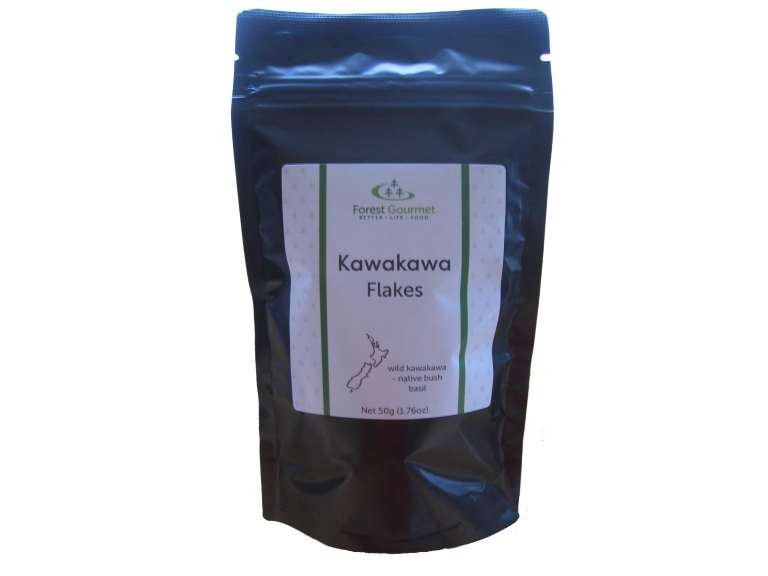 kawakawa flakes in compostable pouch