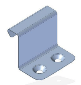REES STANDING SEAM FIXED CLIPS WITH COUNTERSUNK HOLES 38MM