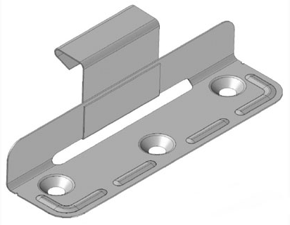 REES STANDING SEAM SLIDING CLIPS WITH COUNTERSUNK HOLES 38MM