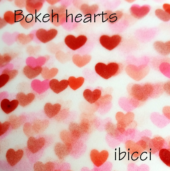 Sample of Bokeh hearts - pinks and reds