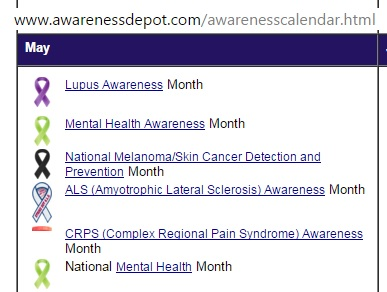 Snapshot of American Awareness dates