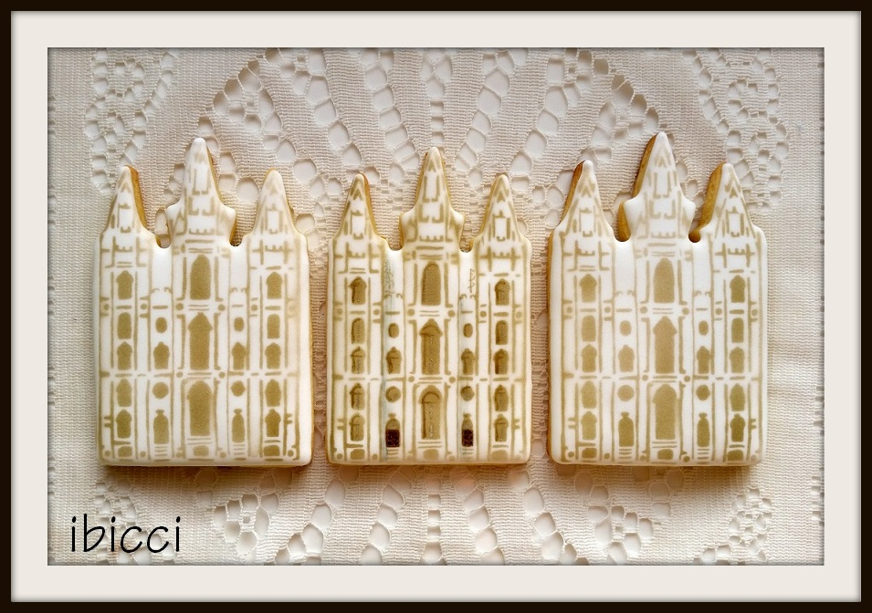 ibicci Temple cookies using the [old] Salt Lake City Temple stencil