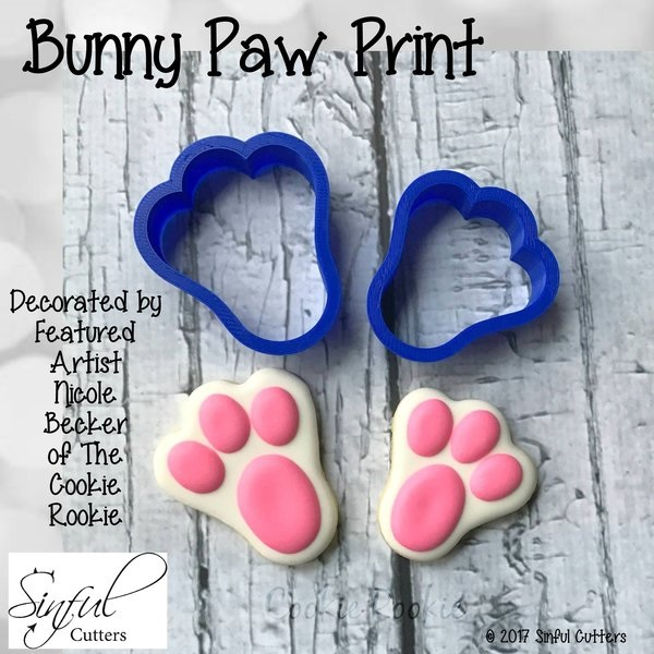 Sinful Cutters Bunny Paw Print cutters - see website for sizes
