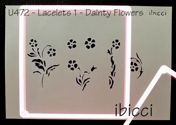 ibicci Lacelets #1 - Dainty Flowers stencil