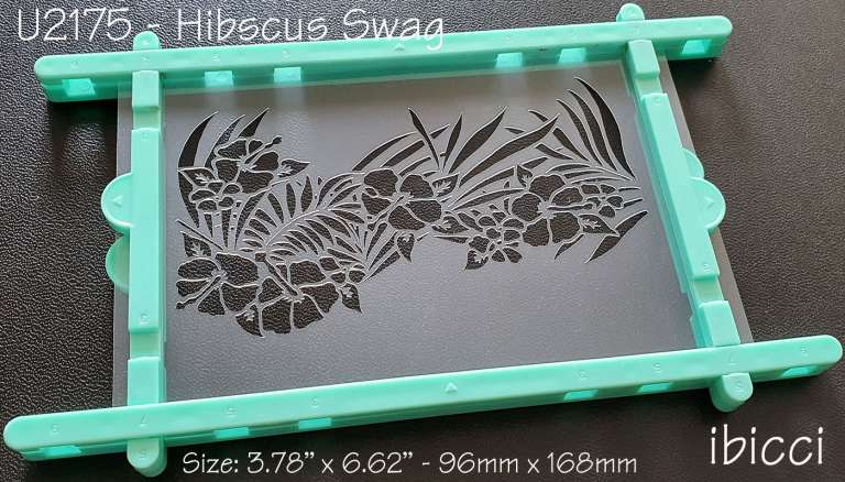 ibicci Hibiscus Swag cookie stencil - 1 part