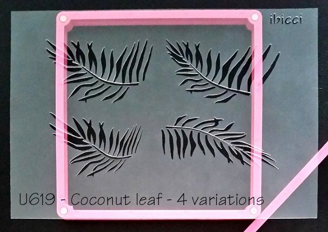 Coconut Leaves cookie stencil