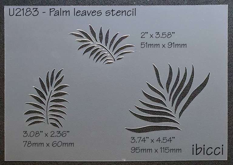 ibicci Hibiscus Collection Palm Leaf stencil - 3 designs