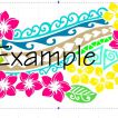 ibicci Pasifika Flowers Cake stencil - Design showing colour