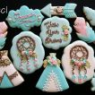 Boho Blue Baby shower cookies