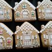 ibicci Gingerbread House cookies using the Gingerbread House stencils