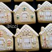 ibicci Vanilla/Orange House cookies using the Gingerbread House stencils