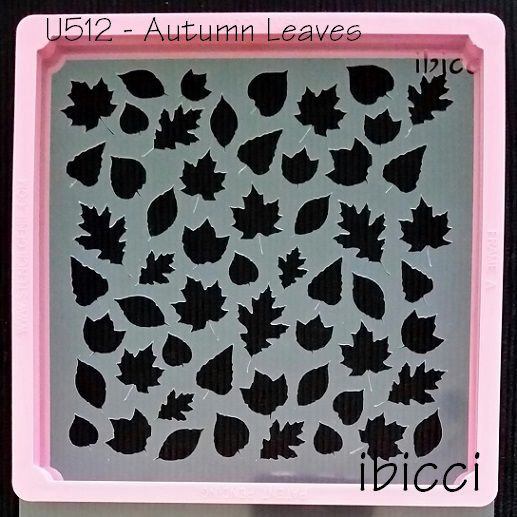 ibicci Autumn Leaves stencil