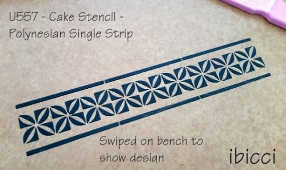 ibicci Polynesian Cake Stencil - Polynesian Single strip