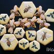 ibicci Queen Bee cookies using the Queen Bees stencils
