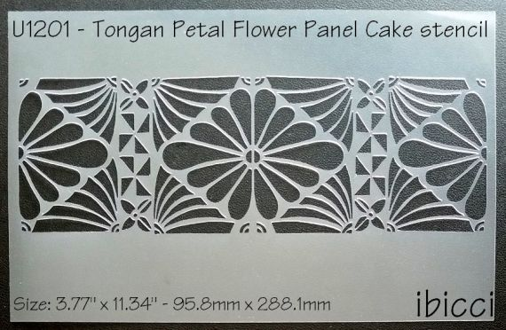 ibicci Tongan Petal Flower Panel stencil