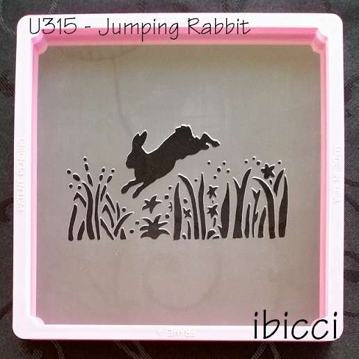 ibicci Woodland cookie stencil 1 - Jumping Rabbit