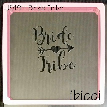 ibicci Bride Tribe stencil with arrow