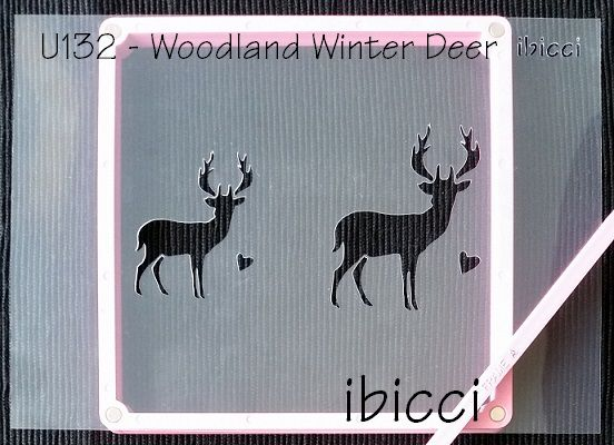 ibicci Woodland Winter Deer stencil