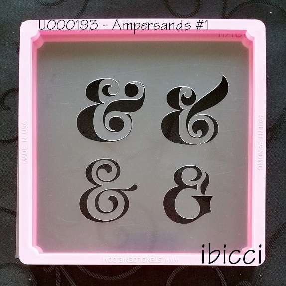 Ampersand Symbol Set #1 stencil - 4 designs