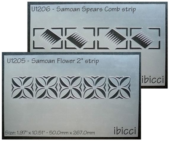 ibicci MB Samoan Spear comb & Flower Strip stencils
