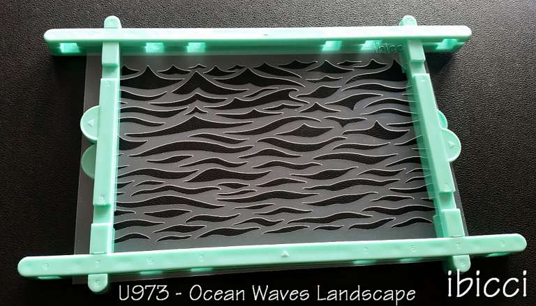 ibicci Waves cookies stencil - landscape