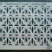 ibicci Polynesian Diamond Flower Tile Cookie Stencil - Landscape