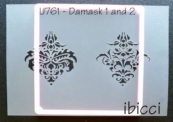 ibicci Damask Cookie Stencil - Design 1 and 2 Singles