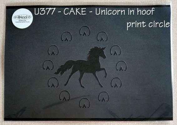 ibicci Unicorn in Hoof Print Circle stencil - for cakes