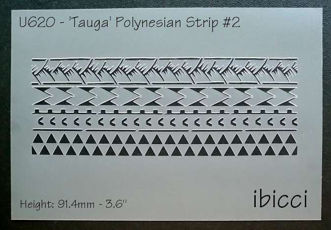 Polynesian 'Tauga' Strip #2 stencil (cookie stencil photo to follow)