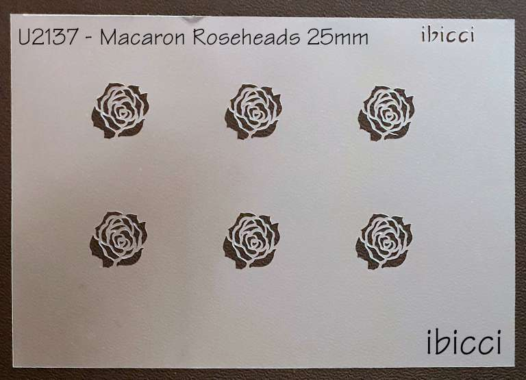 ibicci Roseheads stencil for Macarons 25mm