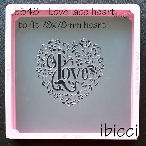 ibicci Love Lace Heart Stencil #2