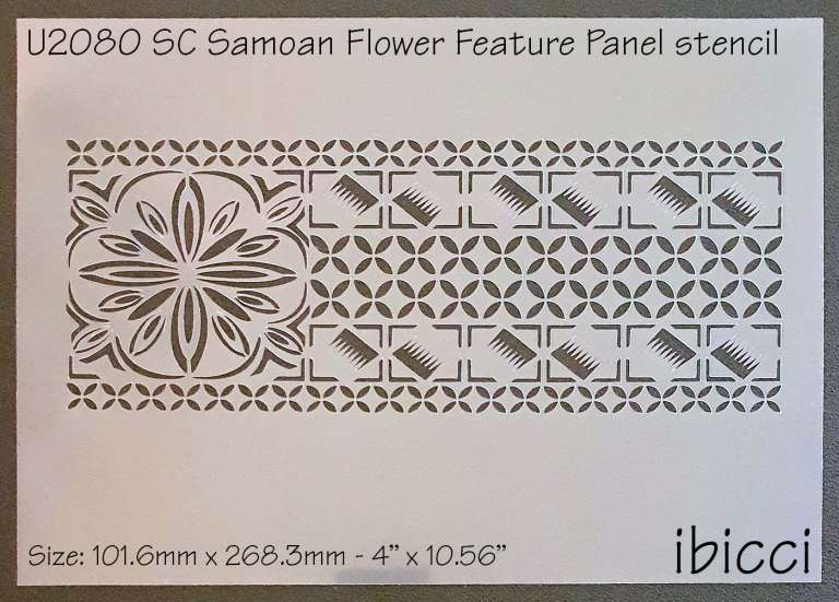 ibicci SC Samoan Flower Feature Panel cake stencil
