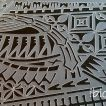 Close up of the ibicci Polynesian Cake Stencil