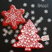 ibicci Christmas Swirl Tree and 'Sharp' Snowflake cookies