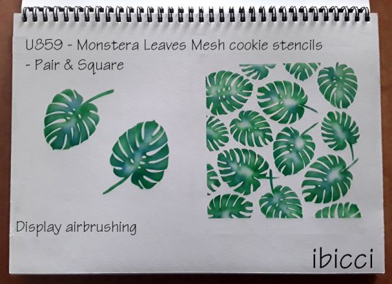 ibicci Monstera Leaves Square Cookie Mesh Stencils