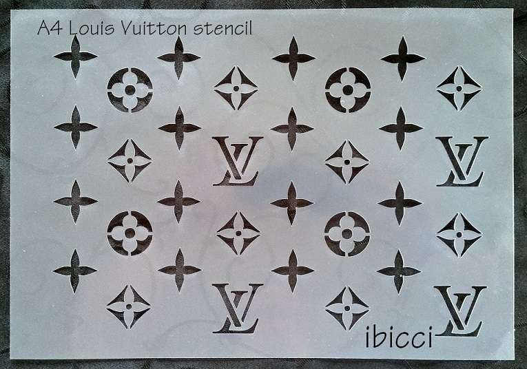 ibicci Louis Vuitton Cake and Cookie stencils