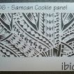ibicci Samoan cookie panel stencil