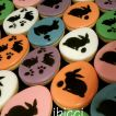 ibicci cookies using the Easter Bunnies with eggs (2) stencil