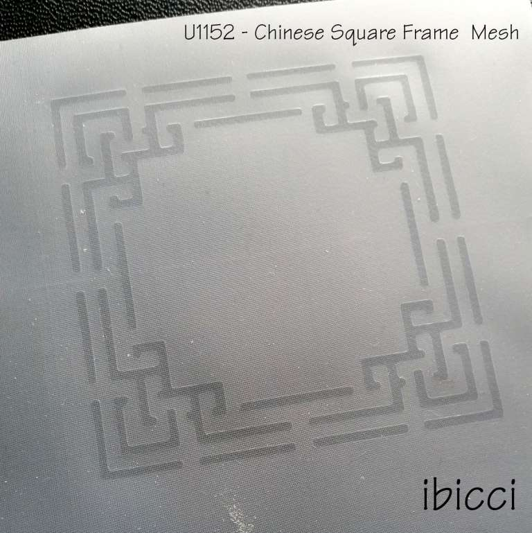 ibicci Chinese square line frame stencil in Mesh