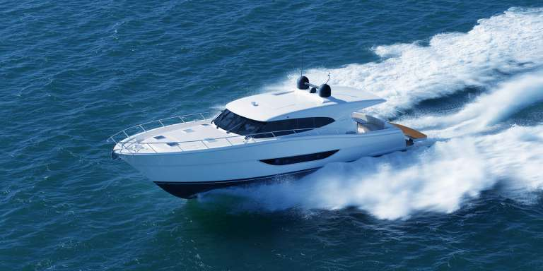The  all new Maritimo S59 is a 'beamy' single level, three cabin, two bathroom vessel with broad appeal.